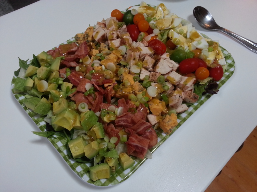 Gorgeous Cobb Salad.  Somehow I deleted the pic of the bottle.  Oh well, the star was the food in this case...