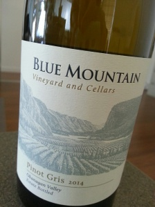 Blue Mountain Pinot Gris 2014