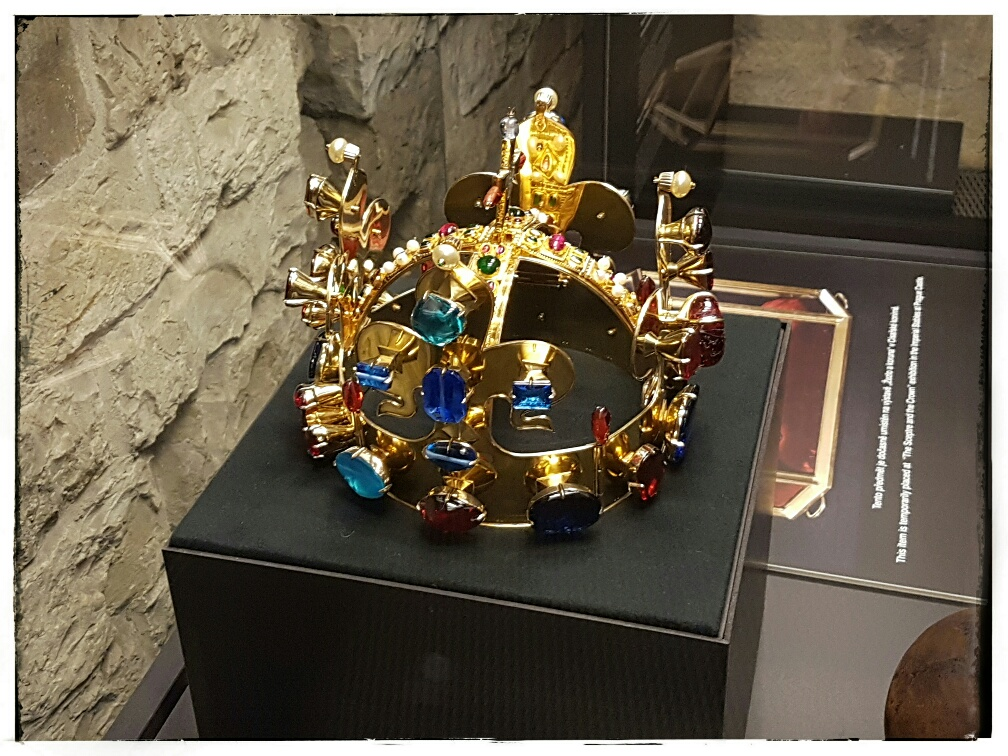 Yes that is the real thing, King Wenceslas' crown.