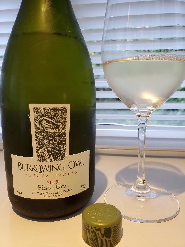 Burrowing Owl Pinot Gris 2018